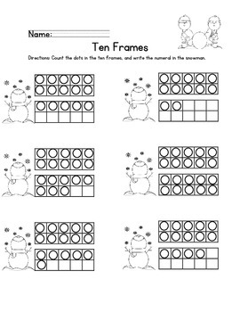 Ten Frames 11-20 (Winter theme)