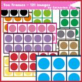 Ten Frames - Clip Art