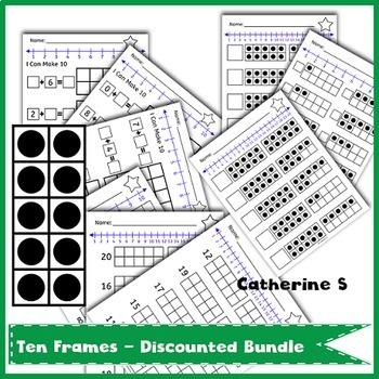 Bundle Ten Frames Worksheets By Catherine S Teachers Pay Teachers