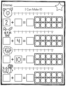 Ten Frame Addition - Make Ten