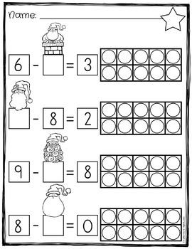 Ten Frame Subtraction