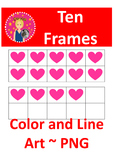 Ten Frames Clipart - Valentine's Day {COMMERCIAL USE OK}
