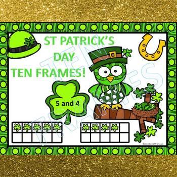 Ten Frames: St Patrick's Day Worksheets (Dab or Color)