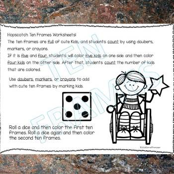 "Hopscotch ""Dab or Color"" (Ten Frames)"