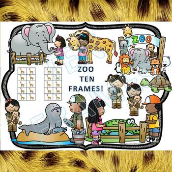 Ten Frames: Zoo Worksheets (Dab or Color)