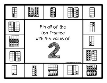 Ten Frames (0-20) - Self-Checking Math Centers