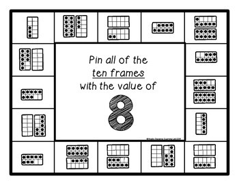 Ten Frames (0-20) - Self-Checking Math Centers