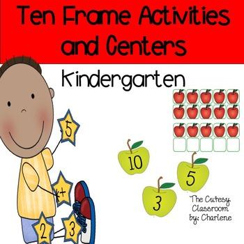 Kindergarten Ten Frames Activities and Centers CCSS K.CC.B.4