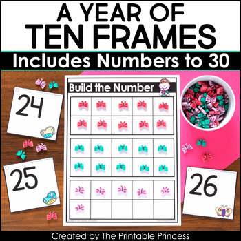 Ten Frames Activities for the Entire Year