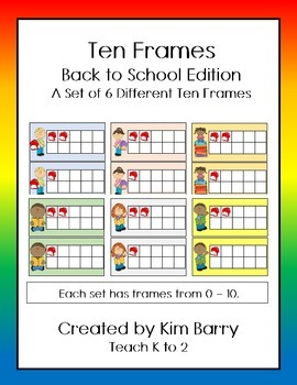 Ten Frames- Back to School Edition