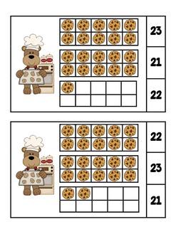 Ten Frames Baking! Matching Numbers 1-30
