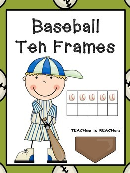 Ten Frames - Baseball Theme
