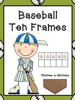 Ten Frames - Baseball Theme