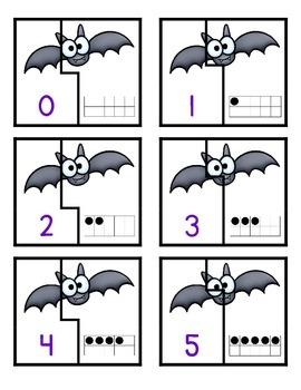 Bat Ten Frame Matching Game
