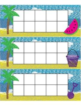 Ten Frames Beach Theme
