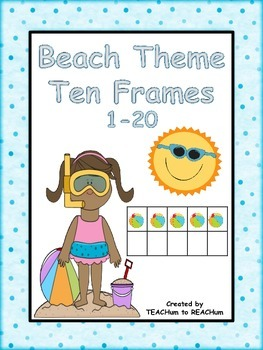 Ten Frames  - Beach Theme