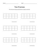 Ten Frames Blank for Student Practice