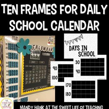 Ten Frames Calendar Count