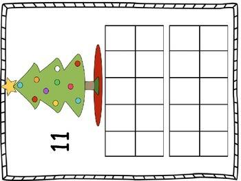 Ten Frames - Christmas tree theme