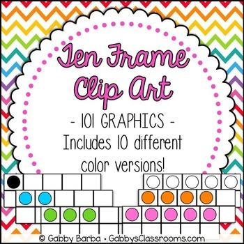 Ten Frames Clip Art {101 Pieces!}
