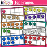Ten Frames Clip Art {Math Tools for Place Value, Number Sense, & Fact Fluency}