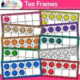 Ten Frames Clip Art | Math Tools for Place Value, Number Sense, & Fact Fluency