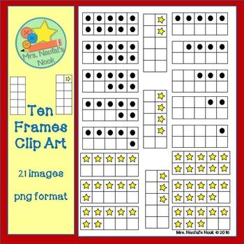 Free Ten Frames Clip Art