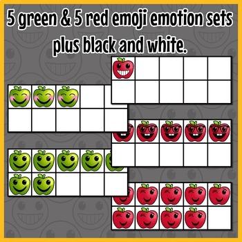 Apple Ten Frames Emoji Clip Art
