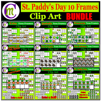 Ten Frames Clip Art BUNDLE