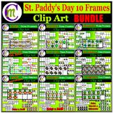 St Patricks Day Clipart Ten Frames BUNDLE