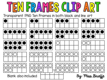 10 Frames Clip Art (Ten Frames clipart)