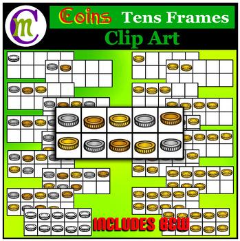 Ten Frames Clip Art  Coins