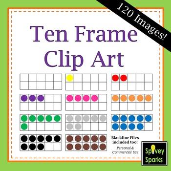 Ten Frames Clip Art for Commercial Use