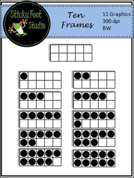 Ten Frames Clip Art For Math