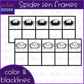 Ten Frames Clip Art- Halloween Spider Clip Art {jen hart Clip Art}