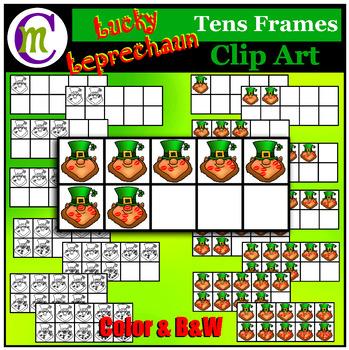 10 Frames Clip Art  Lucky Leprechaun