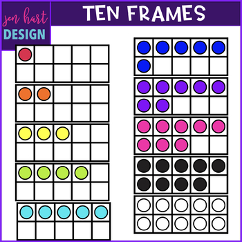 Ten Frames Clip Art {jen hart Clip Art)