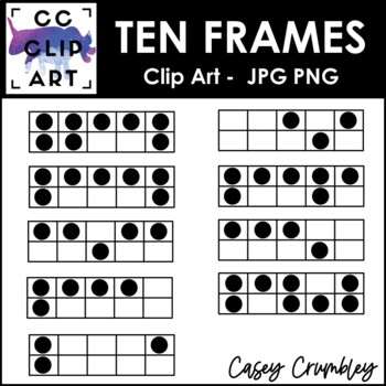 Ten Frames Clip Art! Over 100 Ten Frames HUGE Set