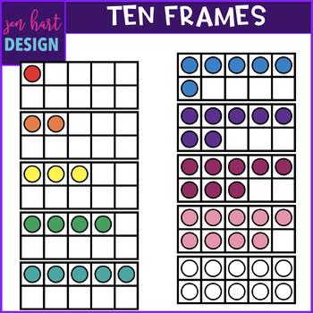 Ten Frames Clip Art {jen hart Clip Art}