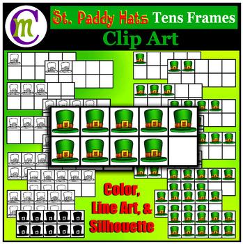 Ten Frames Clip Art St. Paddy's Day Hats