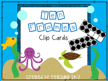 Ten Frames Clip Cards