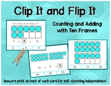 Ten Frames Clip Cards - Counting and Adding to 20