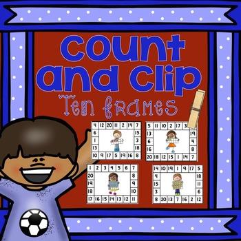 Ten Frames Clip It