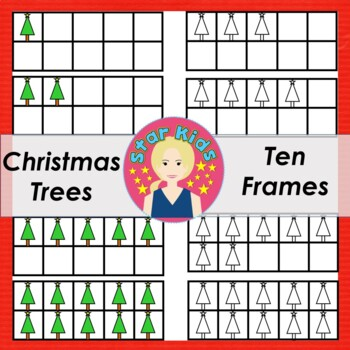 Ten Frames Clipart - Christmas Trees  {COMMERCIAL USE OK}