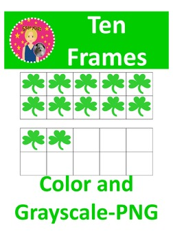 Ten Frames Clipart - St. Patrick's Day {COMMERCIAL USE OK}