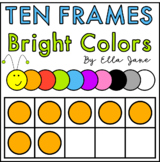 Ten Frames Clipart in Bright Colors