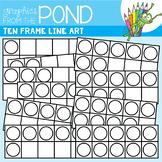 Ten Frame Line Art