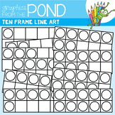 Ten Frame Line Art