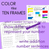 Ten Frames Worksheets Coloring Activity for Math Stations