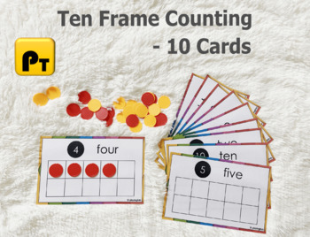 Ten Frames Counting Activity, Kindergarten Match Center, 10 Frames Math